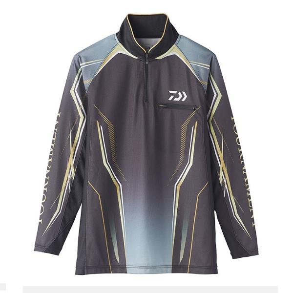 ダイワ DE-73020 トーナメント アイスドライ ジップアップ メッシュシャツ ブラック M