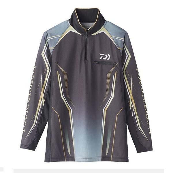 ダイワ DE-73020 トーナメント アイスドライ ジップアップ メッシュシャツ ブラック XL