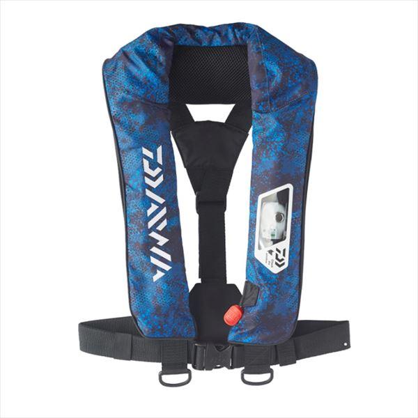 ダイワ DF-2007 ウォッシャブルライフジャケット(肩掛けタイプ手動・自動膨脹式) ブルーヘクス フリー