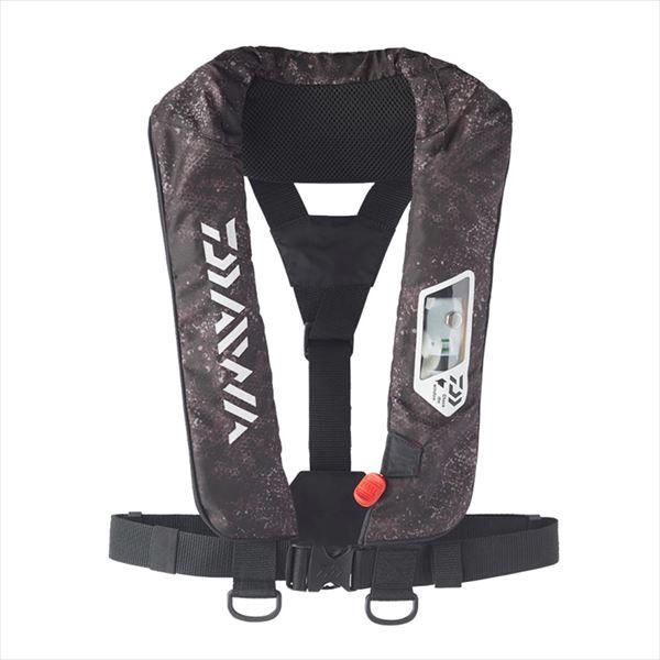 ダイワ DF-2007 ウォッシャブルライフジャケット(肩掛けタイプ手動・自動膨脹式) ブラックヘクス フリー