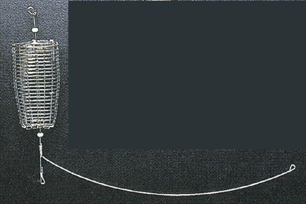 カゴ堤防用 商店 マルシン漁具 コマセカゴ アジサイビーズ付天秤 大大 超目玉