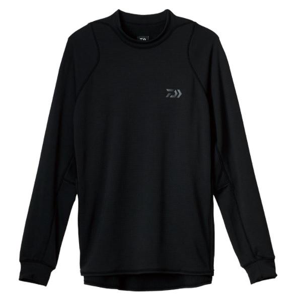 ダイワ防寒ウエア特集 ダイワ 防寒服インナー DE-9121 アクティブクルーネックウォームシャツ ストアー XL ブラック 超特価