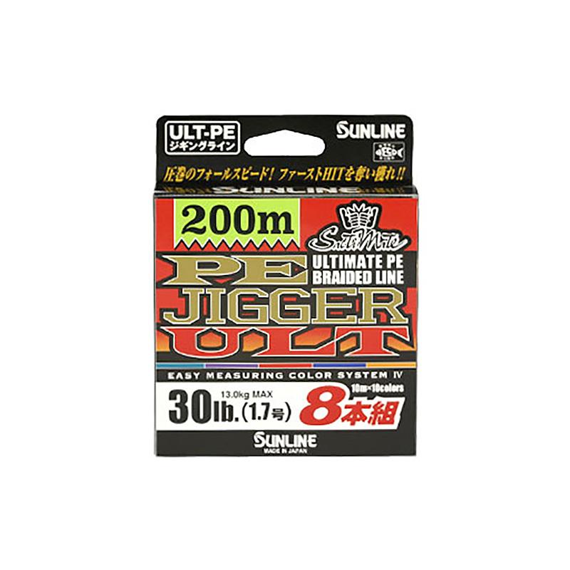 【ポイントアップ 4/1 10:00~4/8 09:59】サンライン PE ジガー ULT 8本組 600m 0.8号