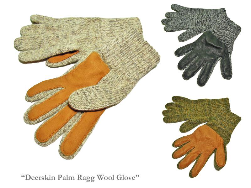 <ネコポス対応>【NEWBERRY KNITTING】ニューベリーニッティング Deerskin Palm Ragg Wool Glove Ladies Glove レディース・ディアスキン・パイル無し手袋