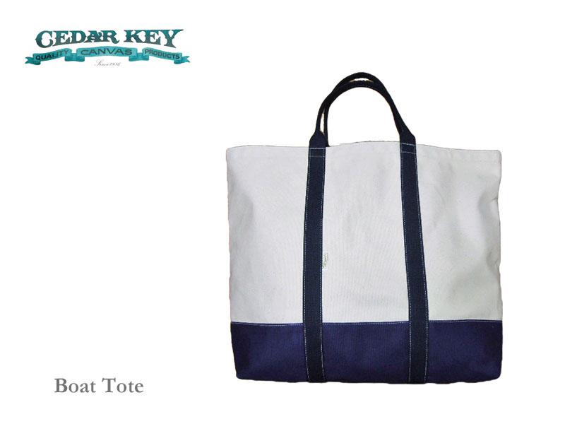 【送料無料】【Cedar Key】シダーキー Boat Tote (XL) ボート・トートバッグ・ナチュラル/ネイビー