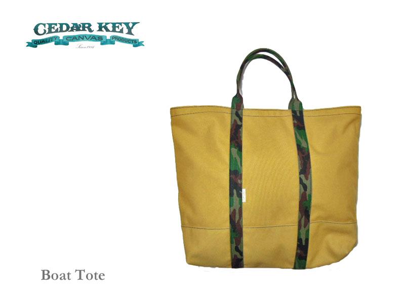 【送料無料】【Cedar Key】シダーキー Boat Tote (XL) ボート・トートバッグ・ライトブラウン/グリーンカモフラージュ