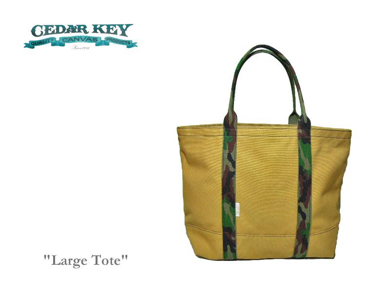 <送料無料>【Cedar Key】シダーキー Large Tote ラージサイズ・トートバッグ・ライトブラウン