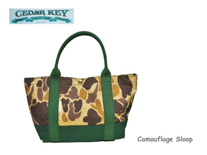 【Cedar Key】シダーキー Sloop Camouflage Tote スループトートバッグ HunterGreen(ハンターグリーン)