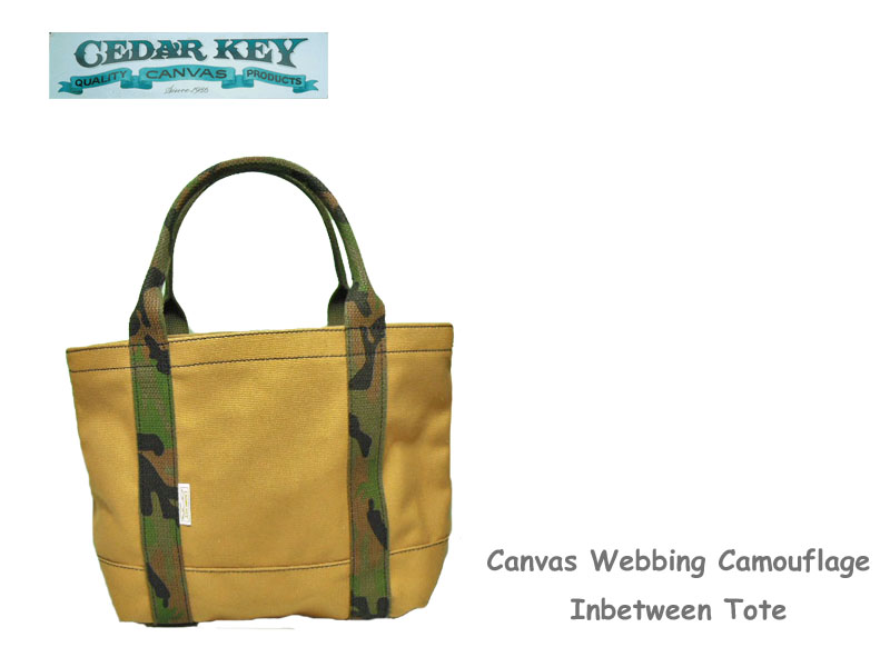 【Cedar Key】シダーキー Canvas Webbing Camouflage Inbetween Tote ウェビング・カモフラージュ・トート