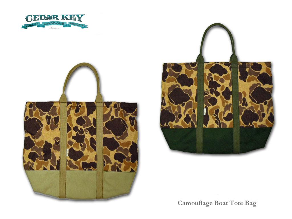 【Cedar Key】シダーキー Camouflage Boat Tote Bag ボート・トートバッグ