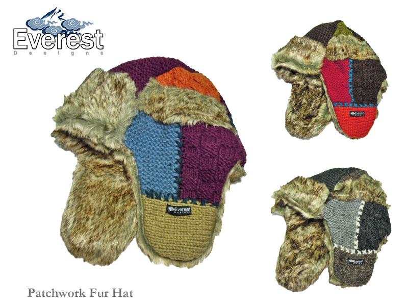 【EVEREST DESIGNS】エベレストデザイン Patchwork Fur Flap パッチワーク・フラップハット