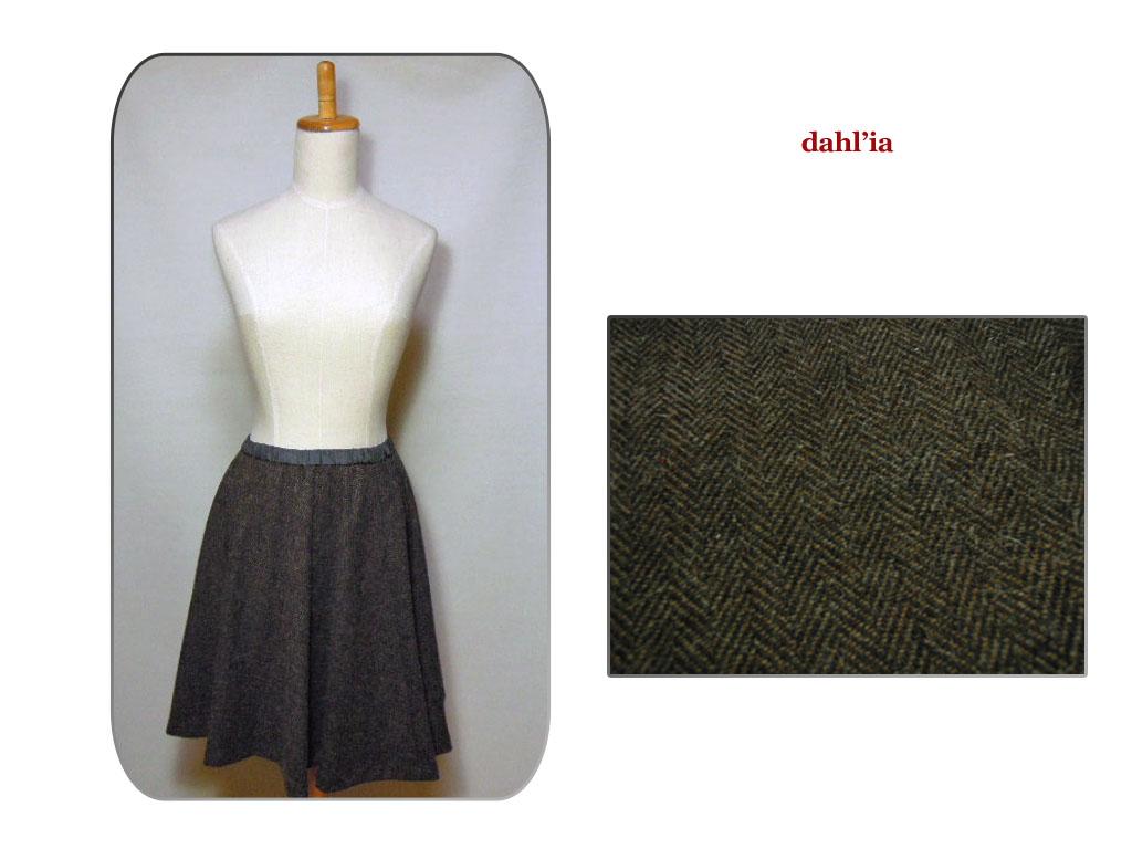 【送料無料】【dahl'ia】-ダリア-DSK-86TW Herringbone Skirtヘリンボーン・スカート