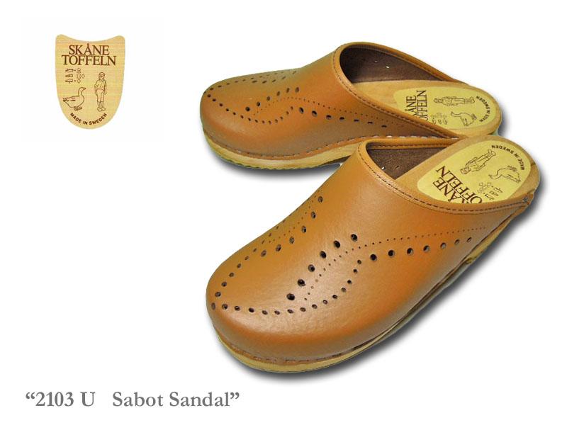 <送料無料>【SKANE TOFFELN】スウェーデン製 2103U SABOT Sandal レザー素材・サボサンダル