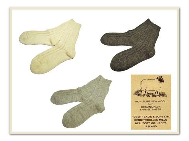 Kerry Woollen Mills Organic Wool Socks Natural