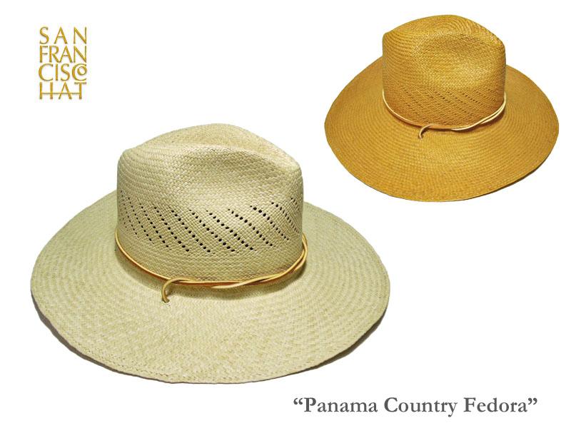 <SALE>【SAN FRANCISCO HAT】サンフランシスコハット・Panama Country Fedora ツバ広パナマ帽