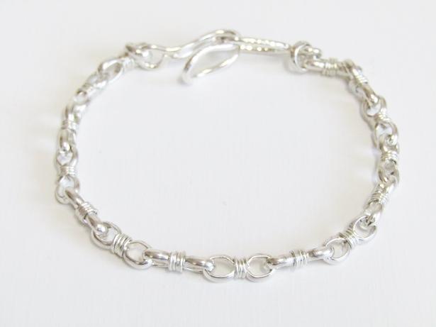 【全品送料無料!】ACE by morizane エースバイモリザネ メンズ wrapped link chain bracelet NO:AG950904 シルバーブレスレット ハンドメイド【smtb-TK】