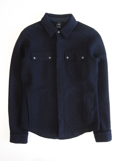 【30%OFF!】【全品送料無料!】nau ナウ メンズ BOILED WOOL SHIRT CAVIAR【smtb-TK】