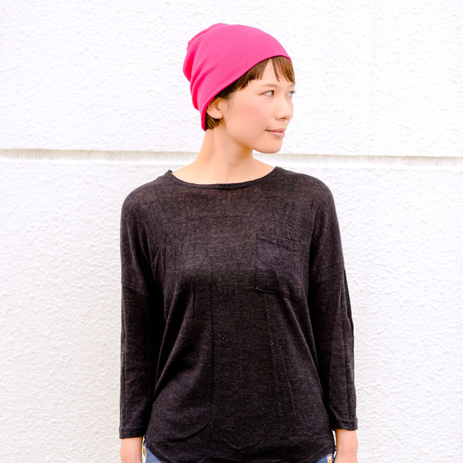 The Ribbed beanie from charm - sports and casual wear, made in Japan