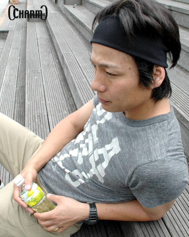 『 Charm 』 GUM R/V 터 번 헤어 밴드/일본 제품/남성/모자/여성용 어버이날/니트 모/스포츠/축구/헤어 밴드/야외/양면/fs3gm