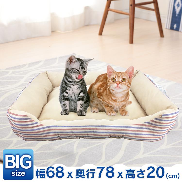 【あす楽】PPボーダーベッド BIG トリコロール ペット ベッド ペットベッド マット 蒸れにくい 春夏 涼しい 犬 猫 【D】