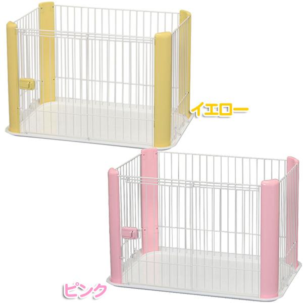 칼라 서클 CLS-960 핑크/옐로우 [개 서클 연습장 계기 하우스 애완 동물 서클 아이리스 오야마]