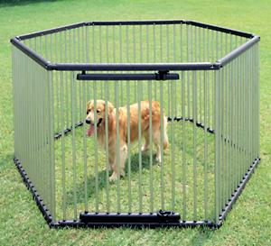 【2日エントリーでポイント2倍!】【10%OFFクーポン対象!】パイプ製ペットサークル UCS-126 (高さ120cm) 送料無料 犬 サークル ステンレス製 強度 屋外 野外 室外 ハウス ドッグサークル ペットサークル 囲い 柵 ペット用品 アイリスオーヤマ キャットランド