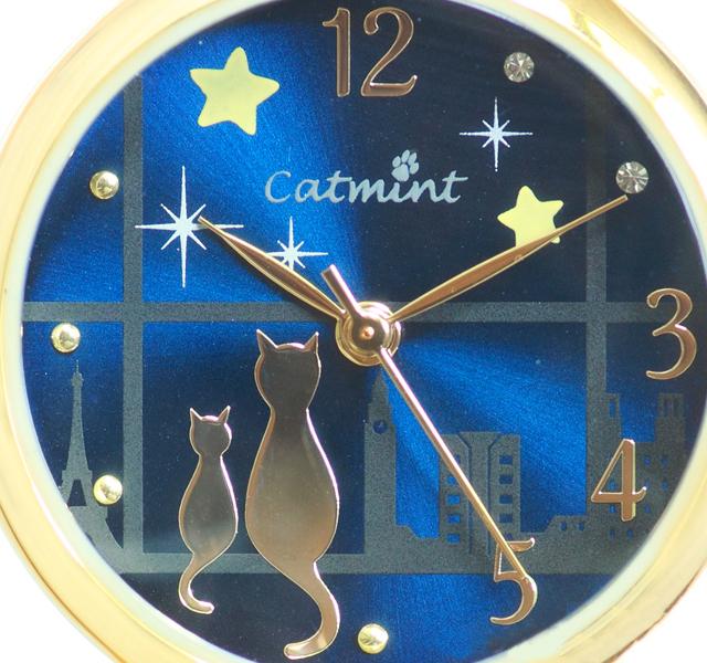 窓に猫が佇む 腕時計 レディース ネイビー ブラウン ブラック 猫雑貨 アクセサリー プチプラ 猫グッズ 猫アクセサリー ねこ ネコ 記念日 誕生日 夜空 プレゼント asu【あす楽】 母の日 入学祝い 進学祝い 就職祝い