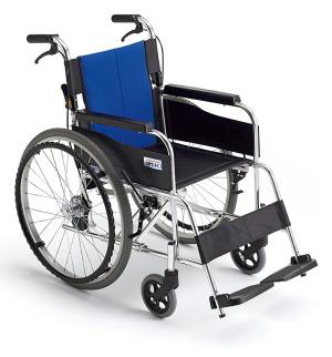 【MiKi】自走介助兼用シンプルスタンダード車椅子BAL-1
