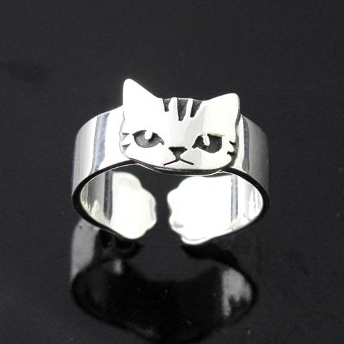 猫 シルバーリング シルバーアクセサリー作家 江口タツオさんのオーダーリング「猫手キジ」