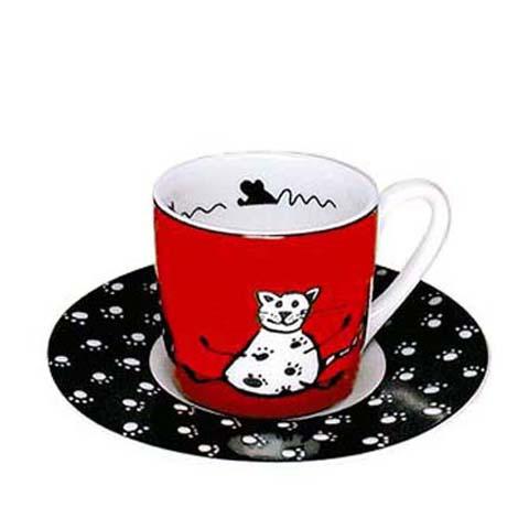 고양이 컵 독일・KONITZ Animal Stories Cat 에스프레소