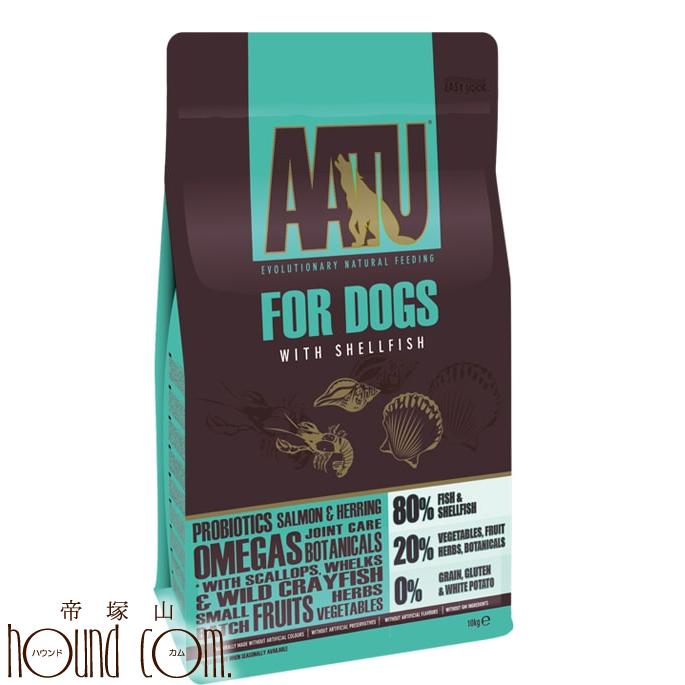 【お取り寄せ(1週間程度かかります)】AATUシェルフィッシュ 10kg 犬用 ドライフード 総合栄養食 サーモン ニシン 貝 ほたて ザリガニ ドッグフード 乳酸菌配合 成犬 コンドロイチン MSM配合 グレインフリー グルテンフリー アートゥー 無添加