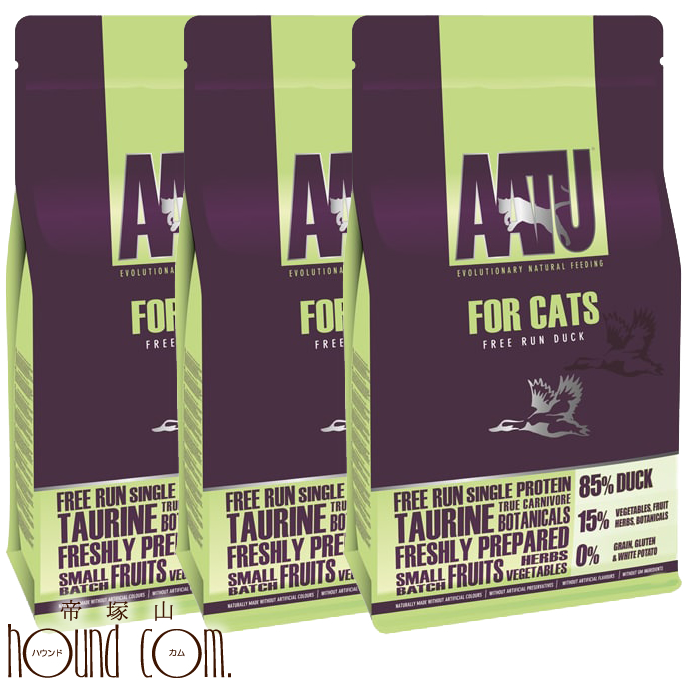 AATU アートゥー|キャット ダック 1kg3袋 ドライフード キャットフード 穀物不使用 アートゥー 小粒 猫用 成猫 グレインフリー CAT