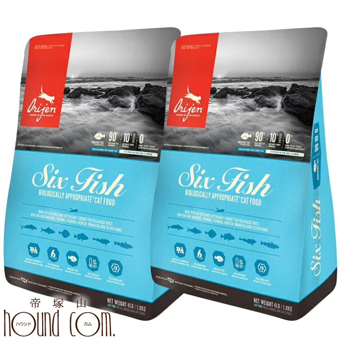 Orijenオリジン 6フィッシュキャット キャットフード 1.8kg×2袋 オリジンまとめ買いおまけ付き 毎日の健康をささえるオリジン
