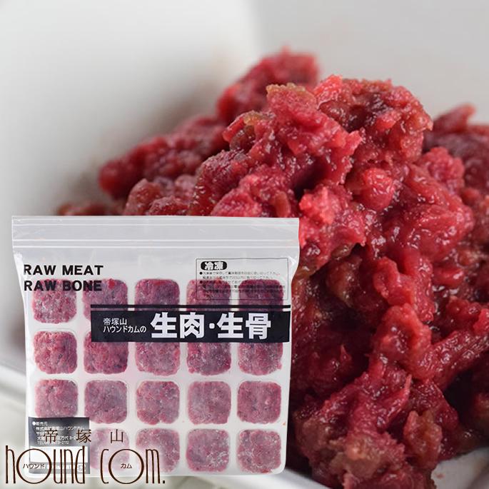犬用猫用 特上赤身鹿肉小分けトレー 4.5kg まとめ買い450gおまけ 生肉 低脂肪 背ロース ペット用 国産 ミンチ 生食