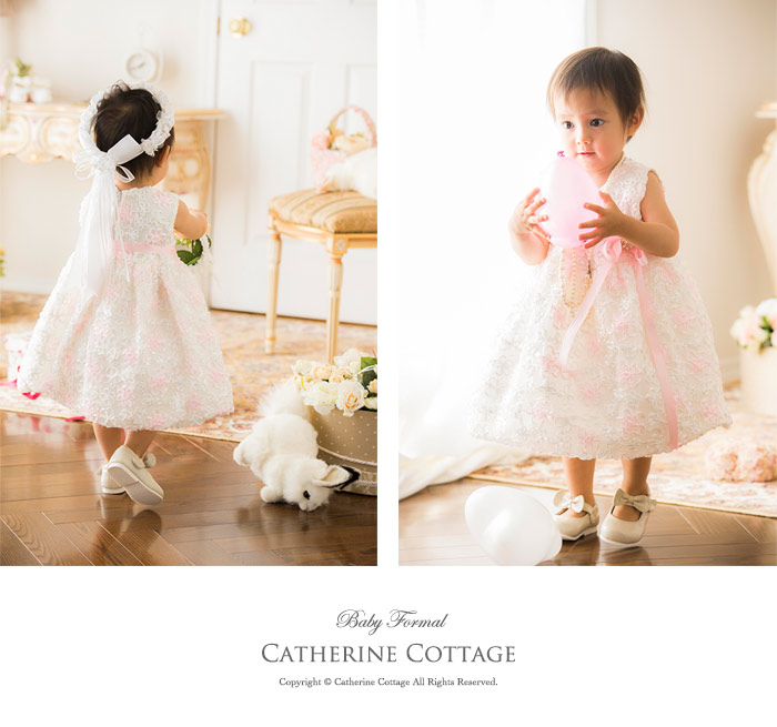 Catherine cottage rakuten global market baby dress ribbon flower model 70 cm tall wearing size m 80 cm color off white coordinate items sold separatelyflribbon strap shoes mightylinksfo