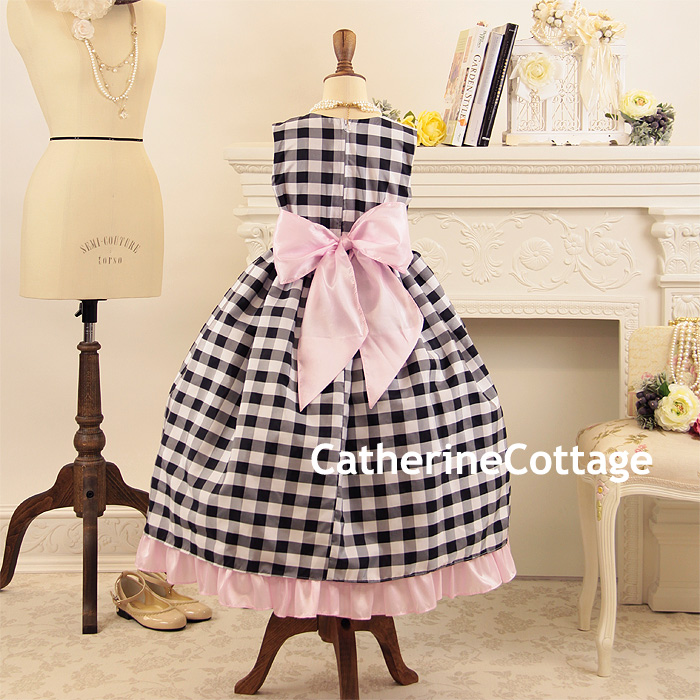 Sarah Check Hearth Cabinet: Catherine Cottage: Dress Child Dress Four Circle Wedding