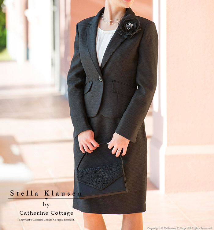 畢業儀式入口適合媽媽母親女人府綢黑色西裝 2 件套 [正式的西裝黑媽媽席位通勤畢業儀式入口式畢業典禮入學儀式 5、 7、 9、 11、 13、 15 存儲樂天],[持續時間有限 0604年]