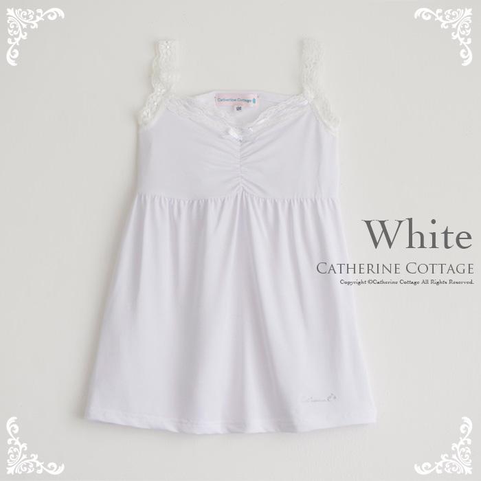 ec2ce39a3872f 子供ペチコートレースキャミソール 子供服  下着白水色女の子キッズジュニアシュミーズ