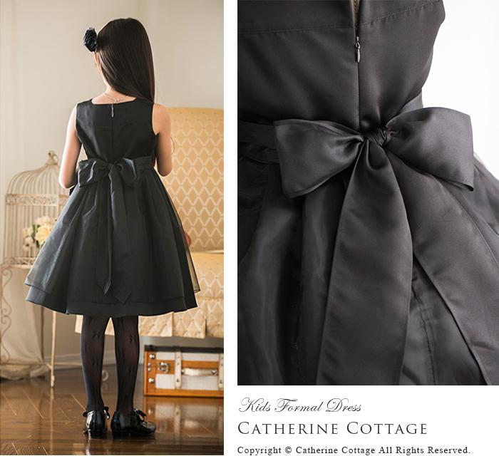 fab5df6a42f76 女の子ドレス発表会黒フリルレースブラックドレス 子供ドレス子どもドレス子供服