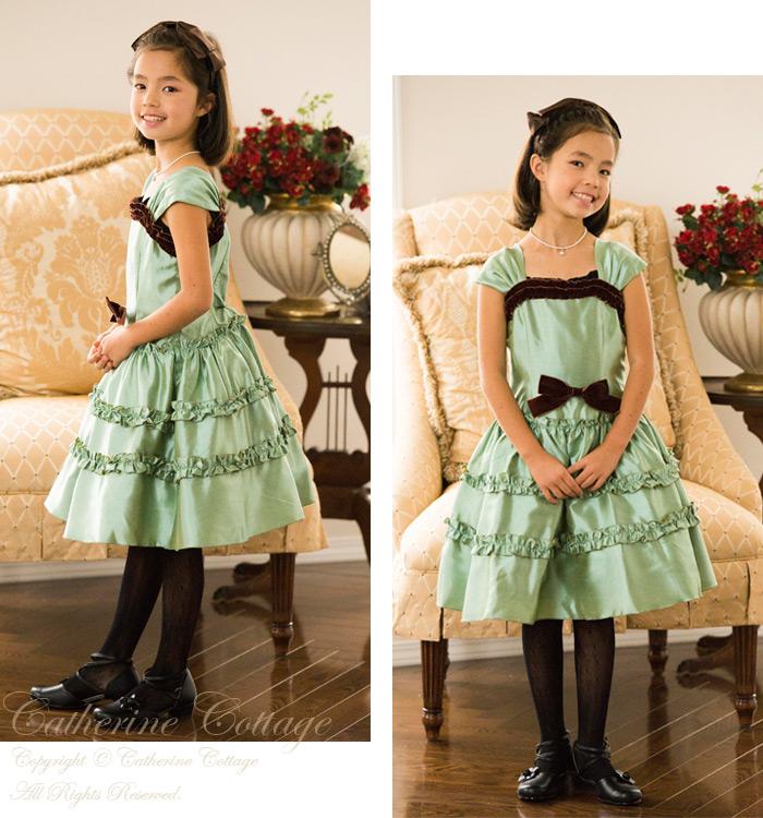 2319c1cd5c9e2 楽天市場 子供ドレス 女の子 アースカラーフリルドレス 子供服 ...