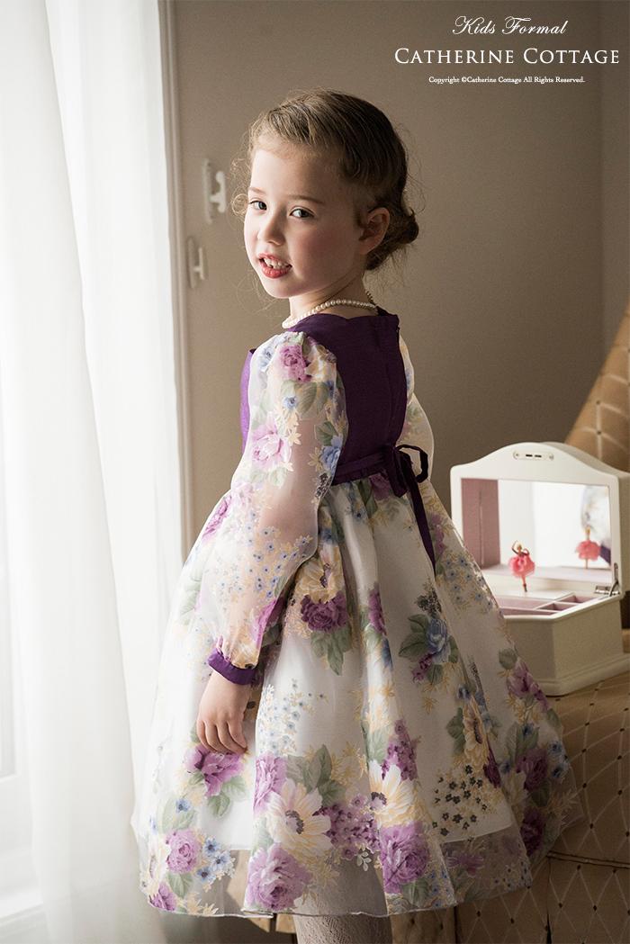 23a02b015f134 楽天市場 子供ドレス 花柄オーガンジー女の子ドレス  フォーマル キッズ ...