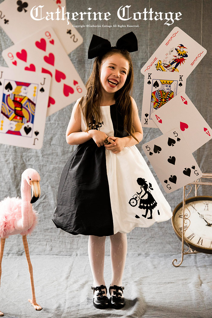 4d5f0ef043940 楽天市場 子供ドレス アリスのモノトーン シャンタンバルーンスカート ...