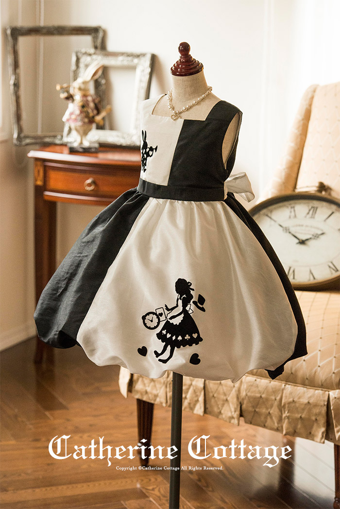 3da29447db3e3 楽天市場 子供ドレス アリスのモノトーン シャンタンバルーンスカート ...