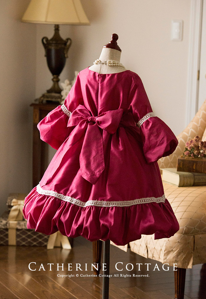 193a3ee09f7a1 楽天市場 子どもドレス 袖・裾バルーン切替ワンピース 子供ドレス ...
