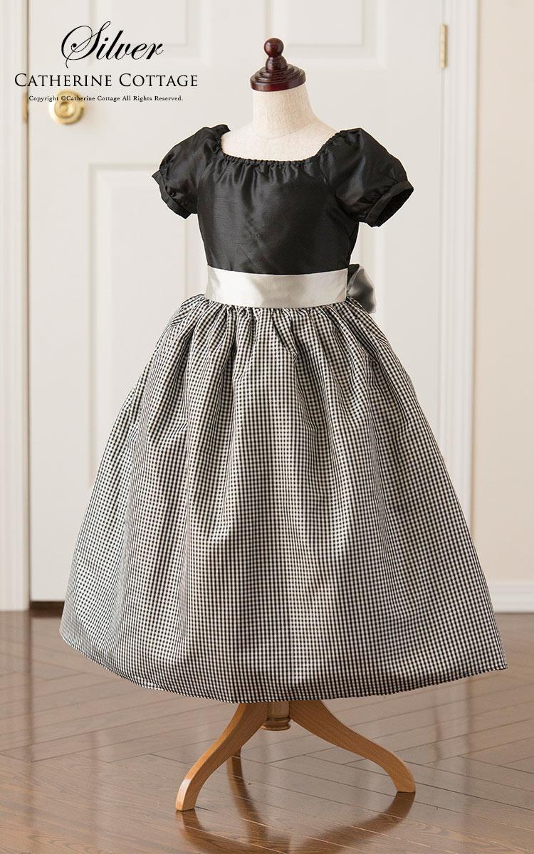 200d3e2f09364 楽天市場 子供ドレス 女の子 発表会 シャンタンラメチェックドレス 子供 ...
