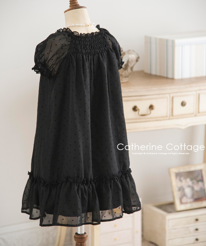 eda75f30e36 The child heart flocky one-piece dress  child dress child mourning dress  four Marwan peace clothes entrance to school entering a kindergarten ...