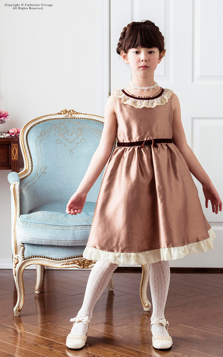 f7f957b79e77b 楽天市場 子供ドレス 発表会 女の子 シャンタンアースカラードレス 子供 ...