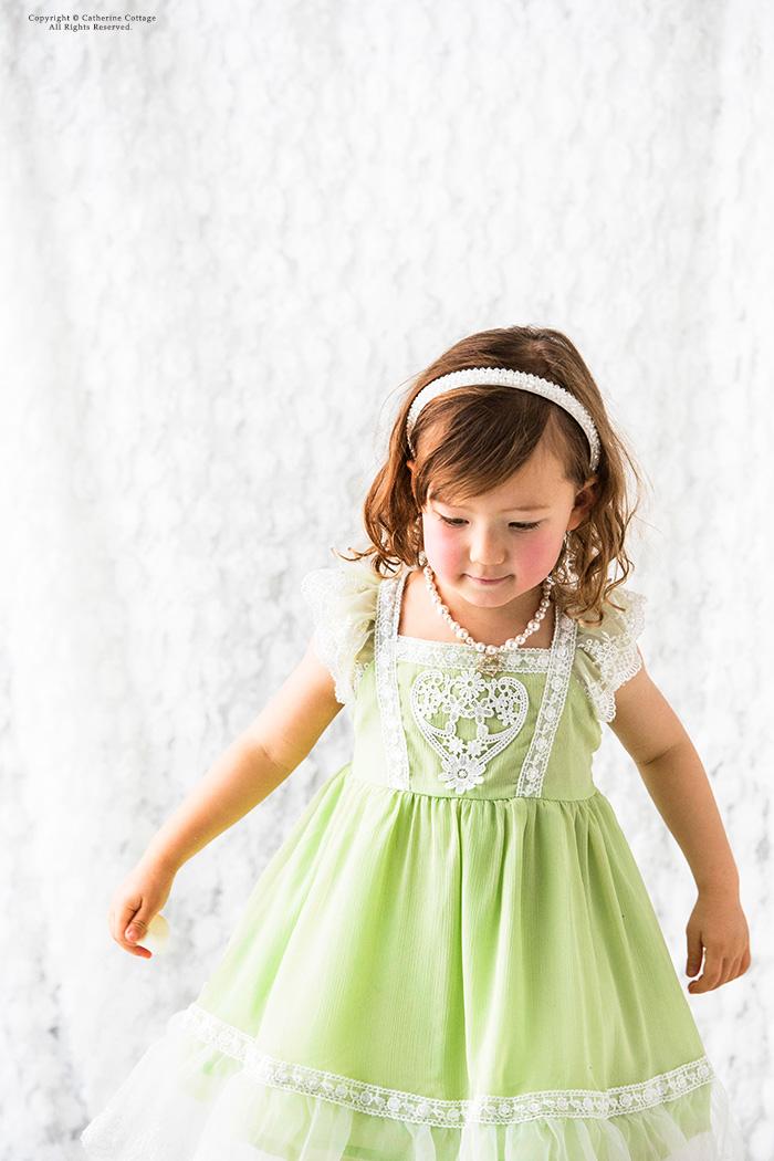 2c41b825cfee5 ハート フラワーレースシフォンワンピース100-140ピンク水色結婚式発表会七五三