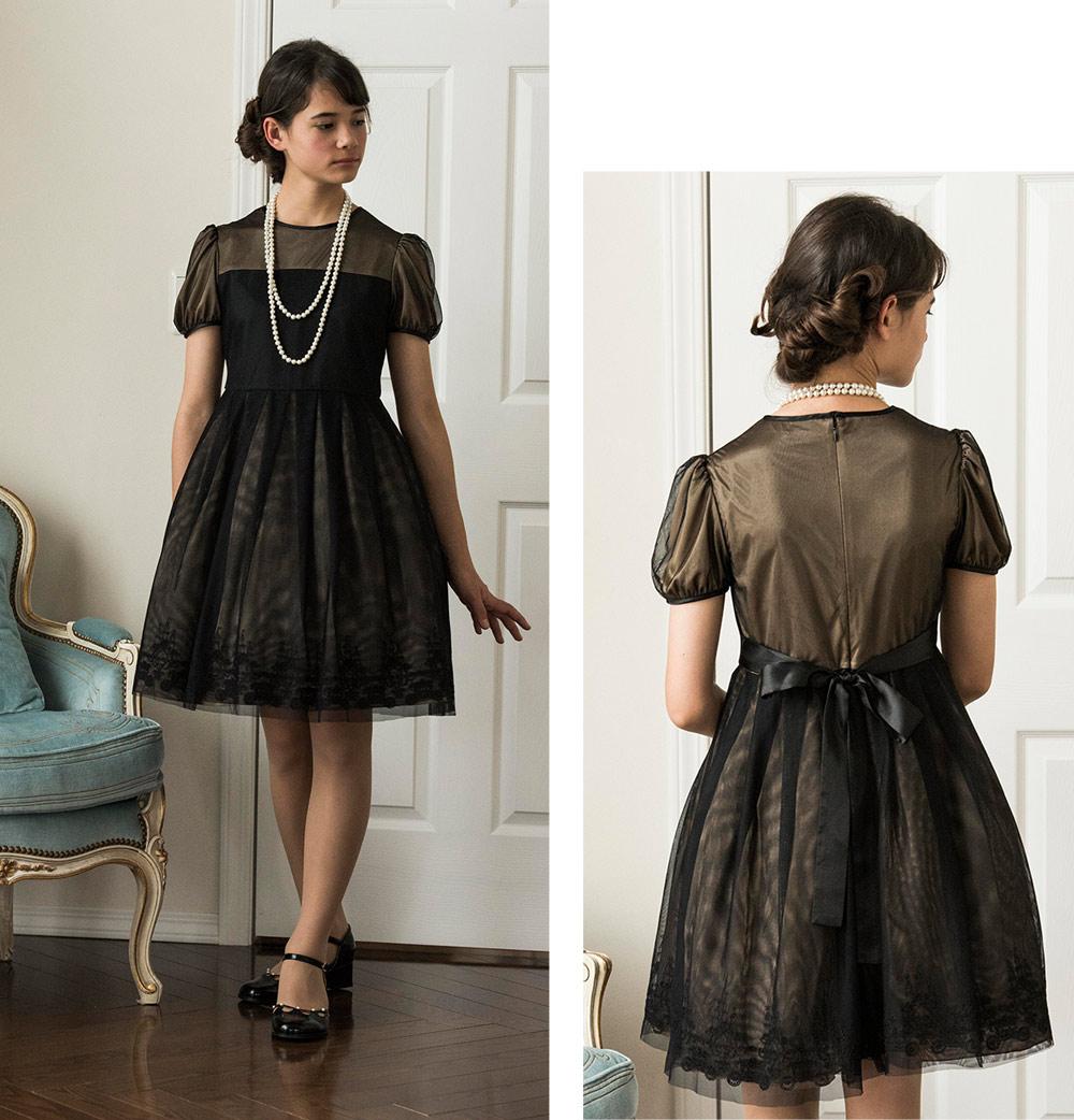 ジュニアドレス 黒