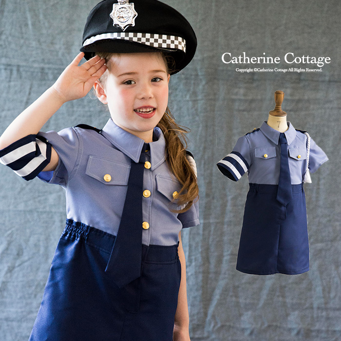 Catherine cottage cop 39 s child halloween costume girls police costume cosplay kids clothes kids - Police officer child costume ...